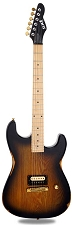 Slick SL54 Aged Sunburst Single Humbucker Maple Fingerboard