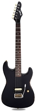 Slick SL54T Single Pickup Tremolo SOLID Ash Body Aged Black