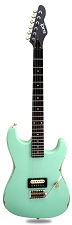 Slick SL54T Single Pickup Tremolo SOLID Ash Body Surf Green