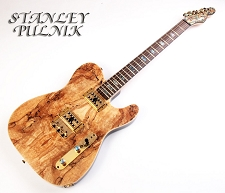 By Stanley Pulnik -- Spalted Maple Tele - Lilian Park Model - All GF Parts