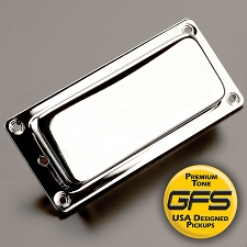 KP - Mini Birds- Covered Mini Humbuckers- Chrome Case - Kwikplug™ Ready
