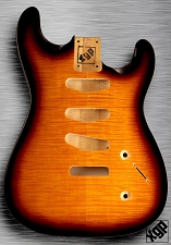 XGP Arched Top Strat Body Flamed Maple 3 Singles Sunburst