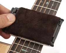 Folding String Cleaner for acoustic/electric. With replacement pads!