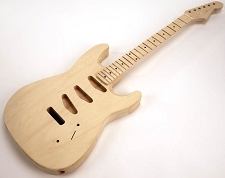 SPECIAL PURCHASE! Unfinished Strat® Style GLUED-IN Setneck, 3 single coils TOP MOUNT, Maple F/B