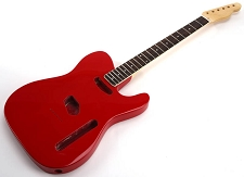 SPECIAL PURCHASE! Rocket Red Tele Style GLUED-IN Setneck, Traditional Single Coil Rosewood F/B