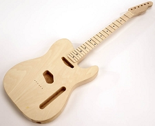 SPECIAL PURCHASE! Unfinished Double-Cutaway GLUED-IN Setneck, Traditional Single Coil Maple F/B