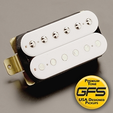 KP - Crunchy Pat high Output Humbucker WHITE Coils - Kwikplug™ Ready