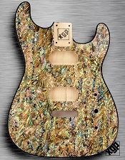 XGP REAL ABALONE SHELL Strat® Style Body 2 Humbuckers