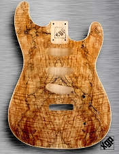 XGP CURLY SPALTED MAPLE Strat® Style Body 3 Single Coils