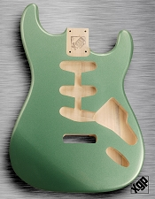 XGP Professional Double Cutaway Body Sage Green Metallic