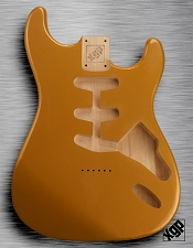 XGP Professional Strat® Body Aztec Gold Metalflake Hardtail!