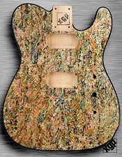 XGP REAL ABALONE SHELL Tele Style Body 2 Humbuckers