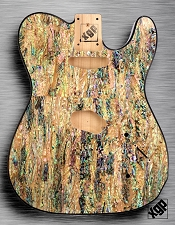 XGP REAL ABALONE SHELL tele Style Body 2 Single Coils