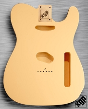 XGP Professional Double Bound Tele Body Vintage Cream with Black Binding