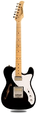 XV-845 Black Thinline Tele Alder Body Gold Foil Pickups maple Fingerboard