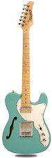XV-845 Daphne Blue Thinline Tele Alder Body Gold Foil Pickups maple Fingerboard