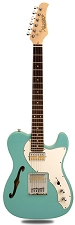 XV-845 Daphne Blue Thinline Tele Alder Body Gold Foil Pickups Rosewood Fingerboard