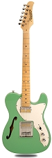 XV-845 Surf Green Thinline Tele Alder Body Gold Foil Pickups maple Fingerboard