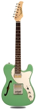 XV-845 Surf Green Thinline Tele Alder Body Gold Foil Pickups Rosewood Fingerboard