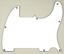 8 Hole Esquire Pickguard- 3 Ply White