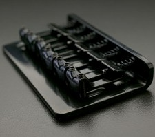 Black Hardtail Bridge, Fits Teles® and Strats®
