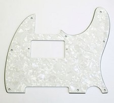 Custom Neck Humbucker Pickguard, FitsTele® - White Pearloid