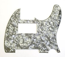 Custom Neck Humbucker Pickguard, Fits Tele®- Black Pearloid