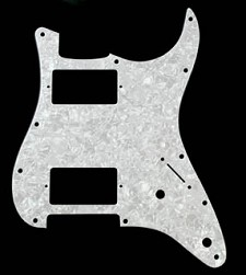 2 Humbucker Pickguard White Mother of Pearl - Fits Strat®