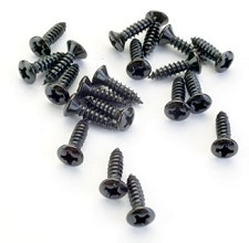 Full Bag of BLACK Pickguard Screws- 20 pcs