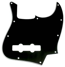 Jazz Bass Pickguard 3-Ply Black/White/Black