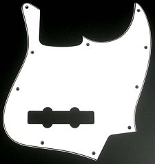 Jazz Bass Pickguard 3 Ply White/Black/White