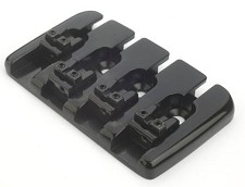 Oversized Top Mount Bass Bridge- SUSTAIN! Black
