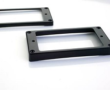 Pair Black Curved Bottom Staggered Height Pickup Rings