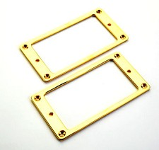 Pair Gold Plated Metal Pickup Rings