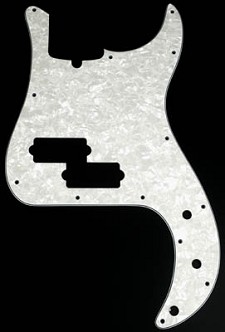 P Bass Multi-Ply pickguard White Pearloid