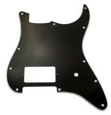 Single Humbucker Pickguard- 3-Ply Black - Fits Strat®