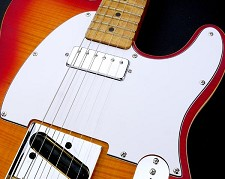 Pickguard - Fits Tele® - cut for Neck Mini Humbucker White 3 Ply