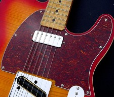 Pickguard - Fits Tele® - Tortoise Shell custom cut for Mini Humbucker