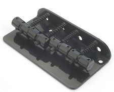 Vintage Style Bass Bridge fits Fender® Basses Black