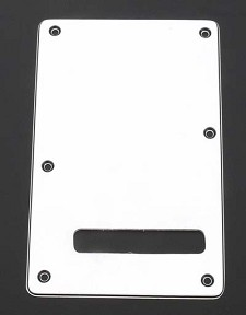 White 3 Ply Tremolo Cover Plate Slot