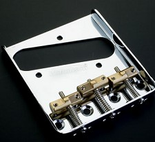 Wilkinson Compensated Bridge - Fits Telecaster® - Brass Saddles