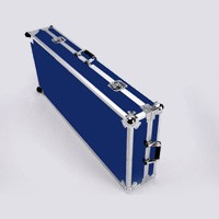 XGP Wheeled Les Paul Sized Flight Case Blue