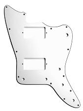 XGP 3 Ply White Offset Pickguard- 2 Humbucker