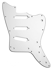 XGP 3 Ply White Offset Pickguard- 3 Single Coil Pickups