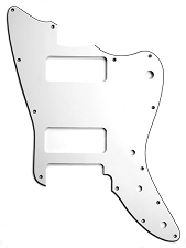 XGP 3 Ply White Trem Offset Pickguard- Fits Strat®- 2 P90 Pickups