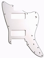XGP 3 Ply Hand Aged White Offset Trem Pickguard-- Fits Strat® Trems - 2 P90