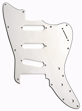 XGP 3 Ply Hand Aged White Offset Trem Pickguard- Fits Strat® Trems - 3 Singles