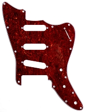 XGP 3 Ply Tortoiseshell Trem Offset Pickguard- Fits Strat® Trems - 3 Single Coils