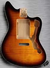 XGP Offset Body, Strat® Tremolo  Double Bound Flamed Maple Vintage Sunburst