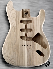 XGP Professional Double Cutaway Body Unfinished USA Swamp Ash Hardtail